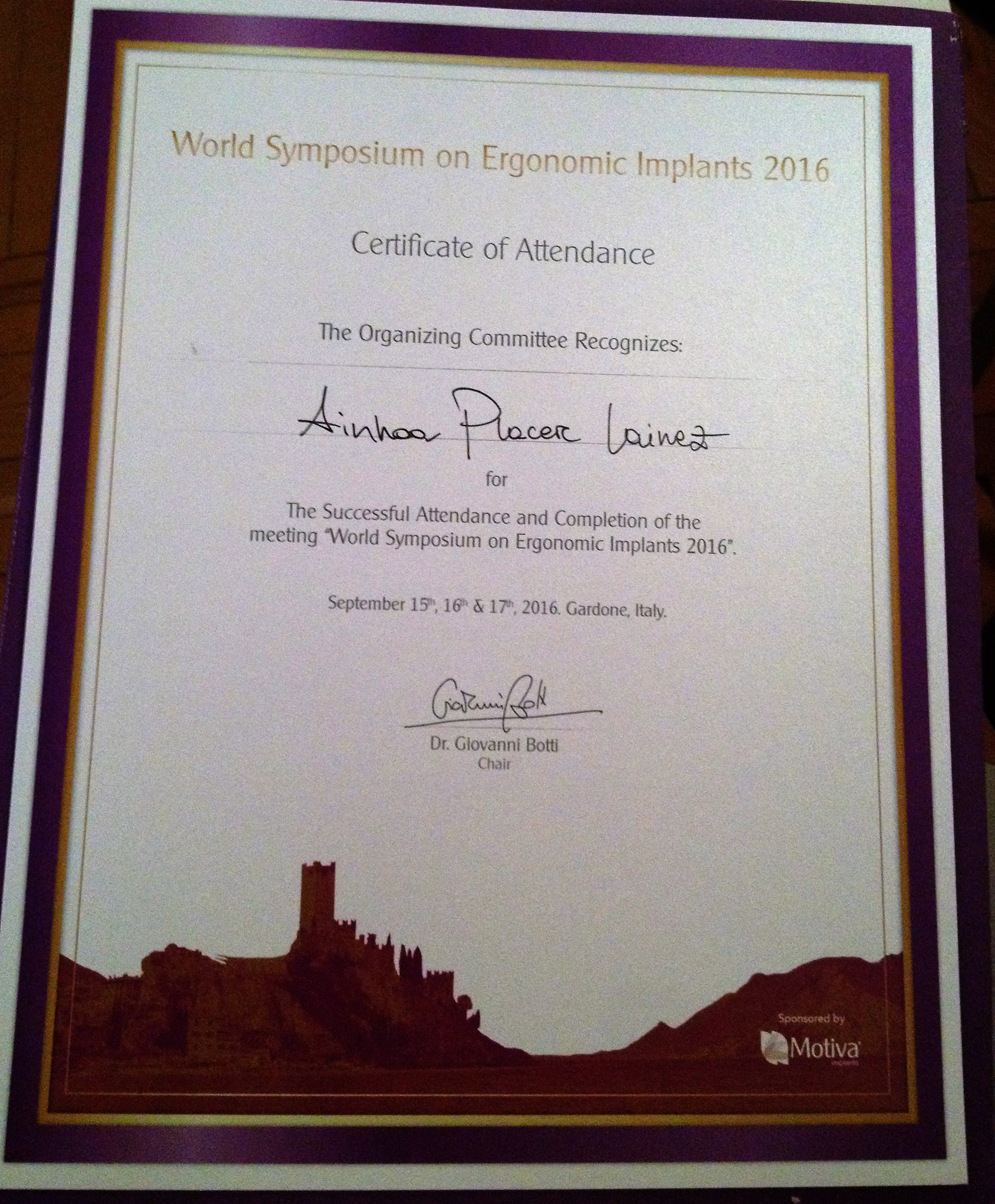 WORLD SYMPOSIUM ON ERGONOMIX IMPLANTS 2016.New Generation Techniques.